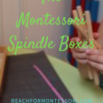 spindle boxes in Montessori pinterest.