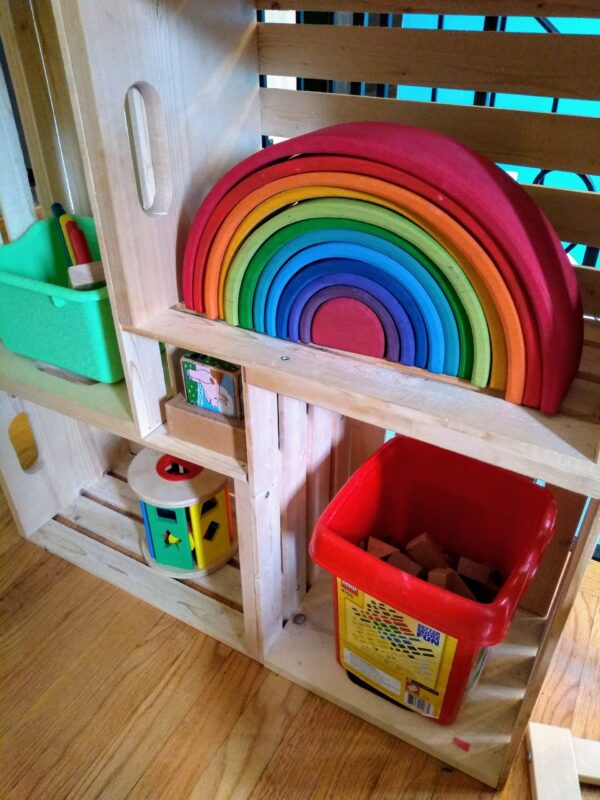 Toy shelves for toddlers