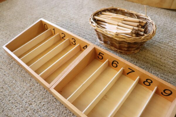 the Montessori Spindle Boxes