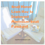 Learn how to implement Montessori Furniture pinterest image.