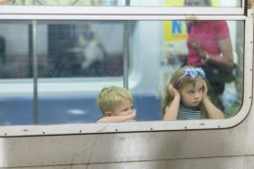 Two kids on train, is boredom bad for kids?