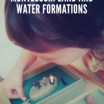 Geography: Montessori Land and Water Formations pinterest image.