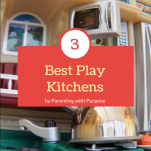 3 Best Montessori Play kitchens pinterest image.