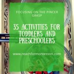 Animal Transfer Activity with Tongs, 35 pincer grasp activities pinterest image.