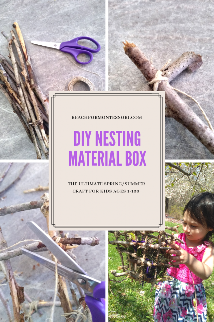 DIY Nesting Material Box Instruction pinterest image.