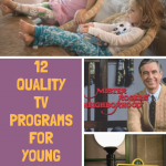 12 Quality TV Programs for young children screentime pinterest image.