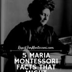 Maria Montessori facts pinterest image.
