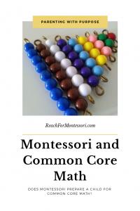 Montessori colored math beads