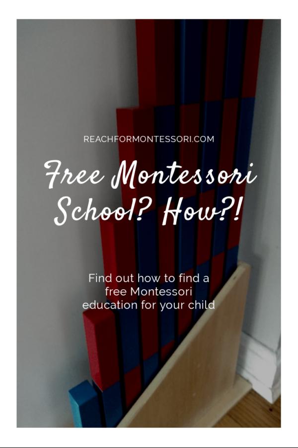 Are Montessori Schools Free pinterest image.