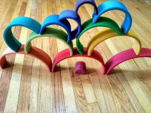 Grimm's Rainbow Activity. Open-ended play creation.