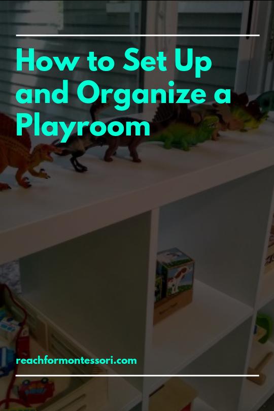 how to organize montessori playroom pinterest image