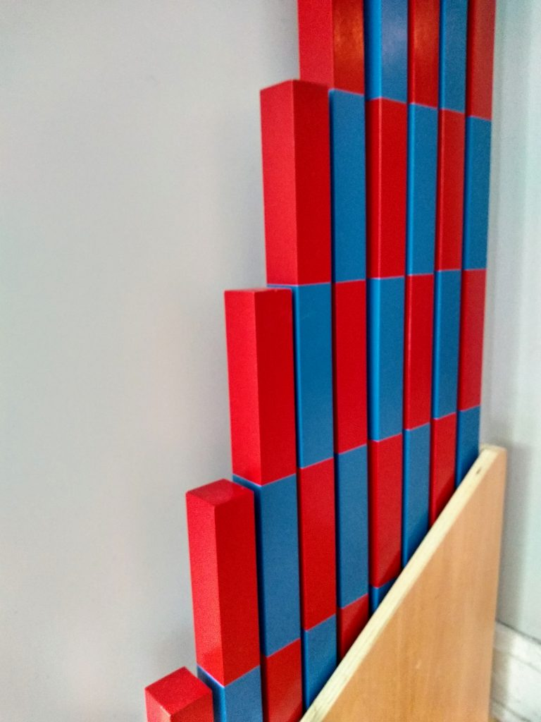 How Montessori teaches math: the Number rods.