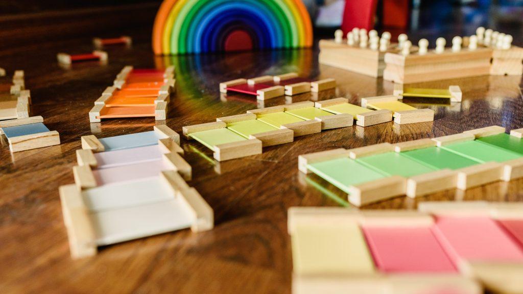 Montessori and Waldorf materials.