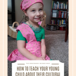 Child in Filipino garment, how to teach your young child about their cultural heritage pinterest image.