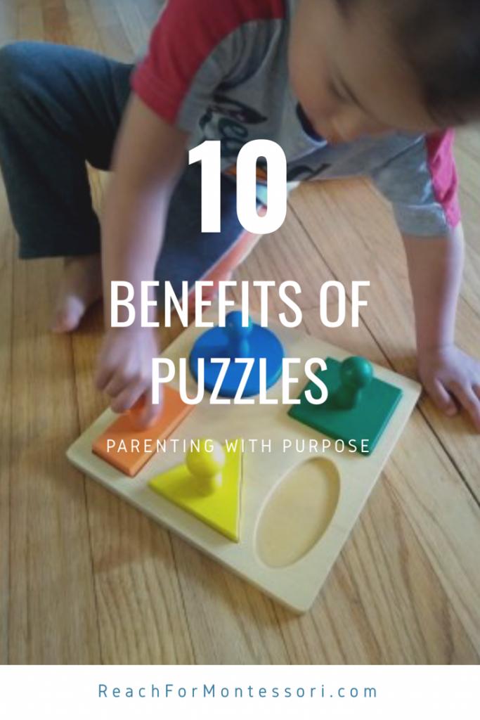 benefits of puzzles pinterest image