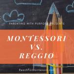 Montessori vs Reggio Pinterest image.