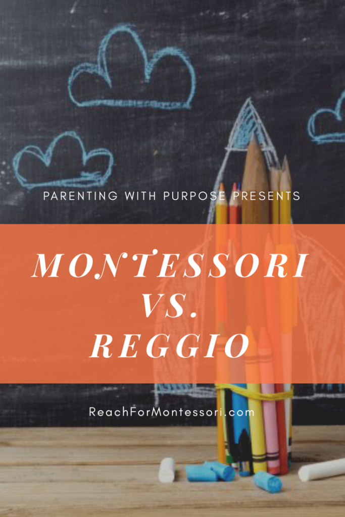 Montessori vs Reggio Pinterest image