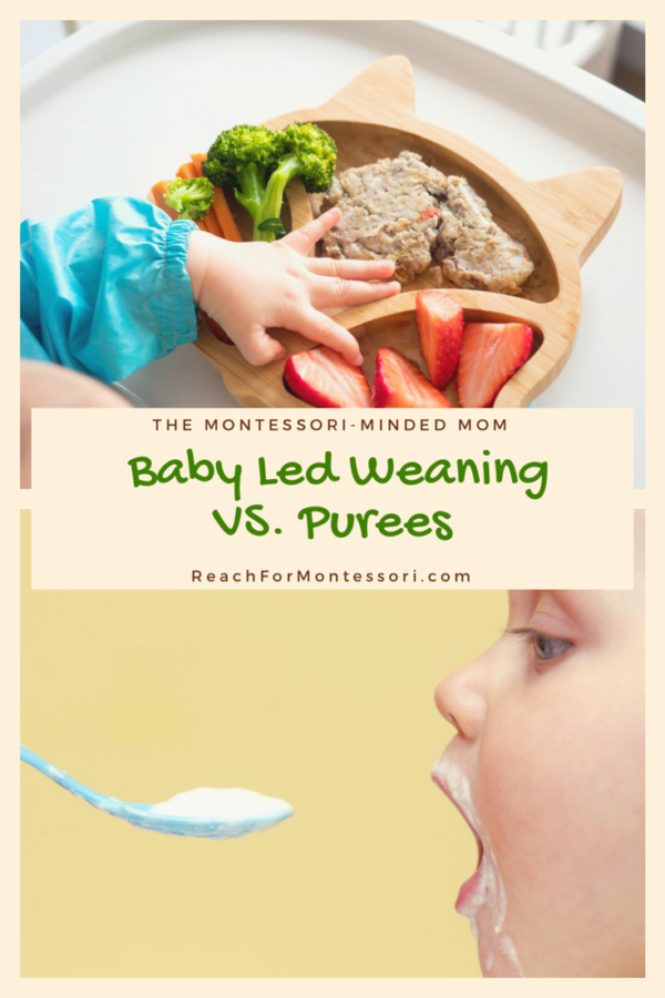 baby led weaning vs purees pinterest image