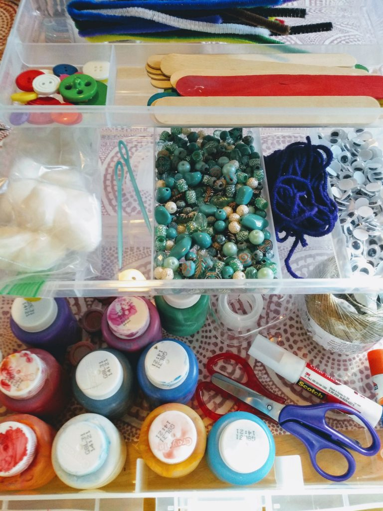 Craft and art supplies for kids.