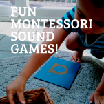 Montessori sound games pinterest image.