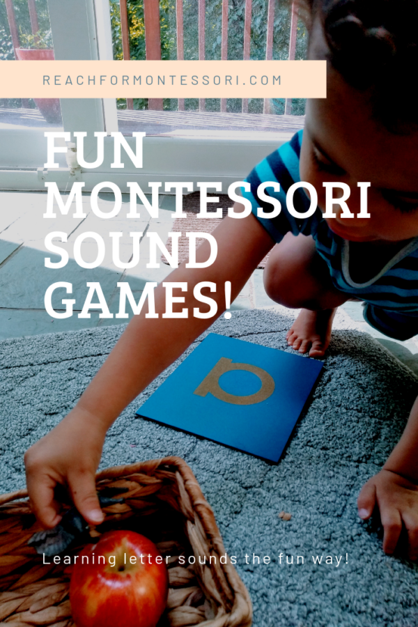 Montessori sound games pinterest image