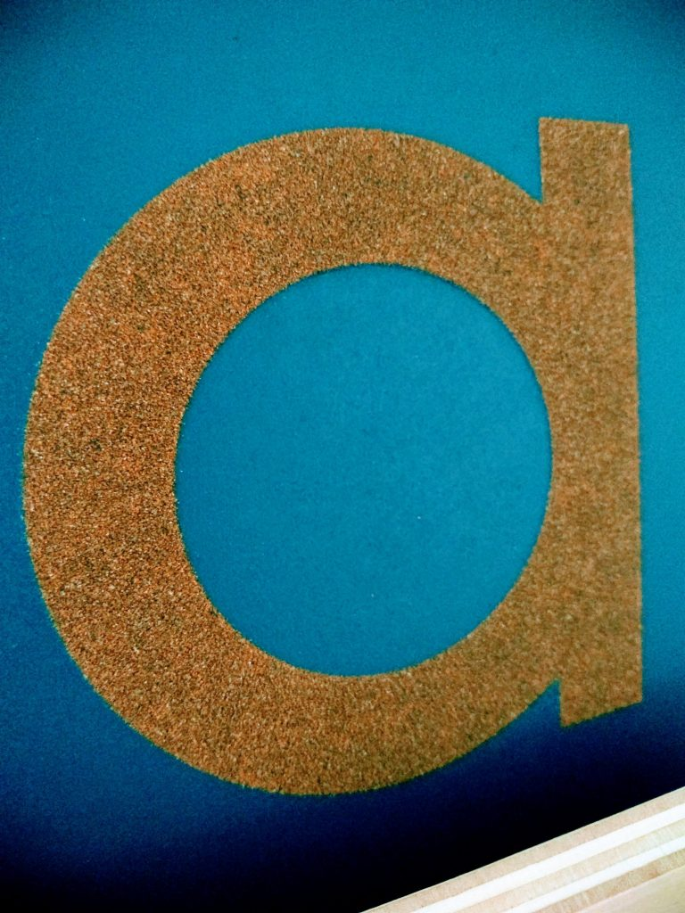 Montessori Sandpaper Letter A, how do sandpaper letters work?