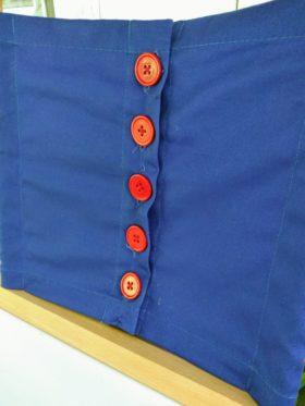 close up of Montessori Button frame.