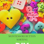 Montessori button sorting activity pinterest image.