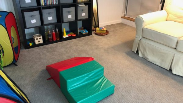 example of creating a yes space for baby, a baby safe room.