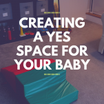 creating a yes space for your baby pinterest image.