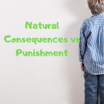 natural consequences vs punishment pinterest image.