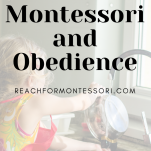 montessori and obedience pinterest graphic.