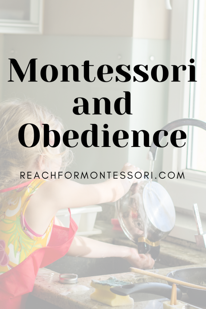 montessori and obediance pinterest graphic