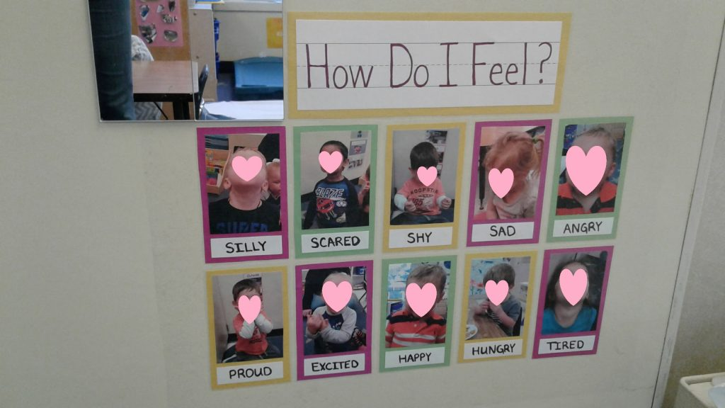 """How to handle toddler biting: with DIY """"how do i feel?"""" emotions chart."""