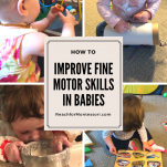 how to improve fine motor skills in babies pinterest image.