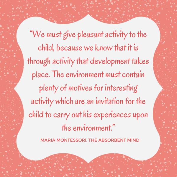 Montessori activity gross motor development quote