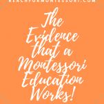 The evidence that Montessori education works Pinterest graphic.