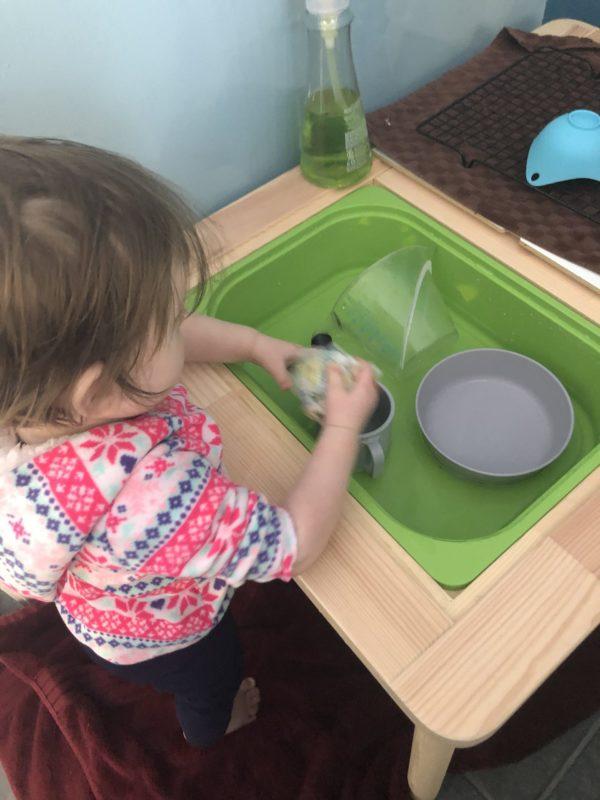 Toddler Dishwashing