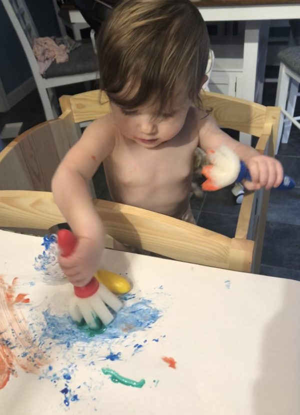 Process art painting