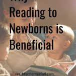 why reading to newborns is beneficial pinterest image.