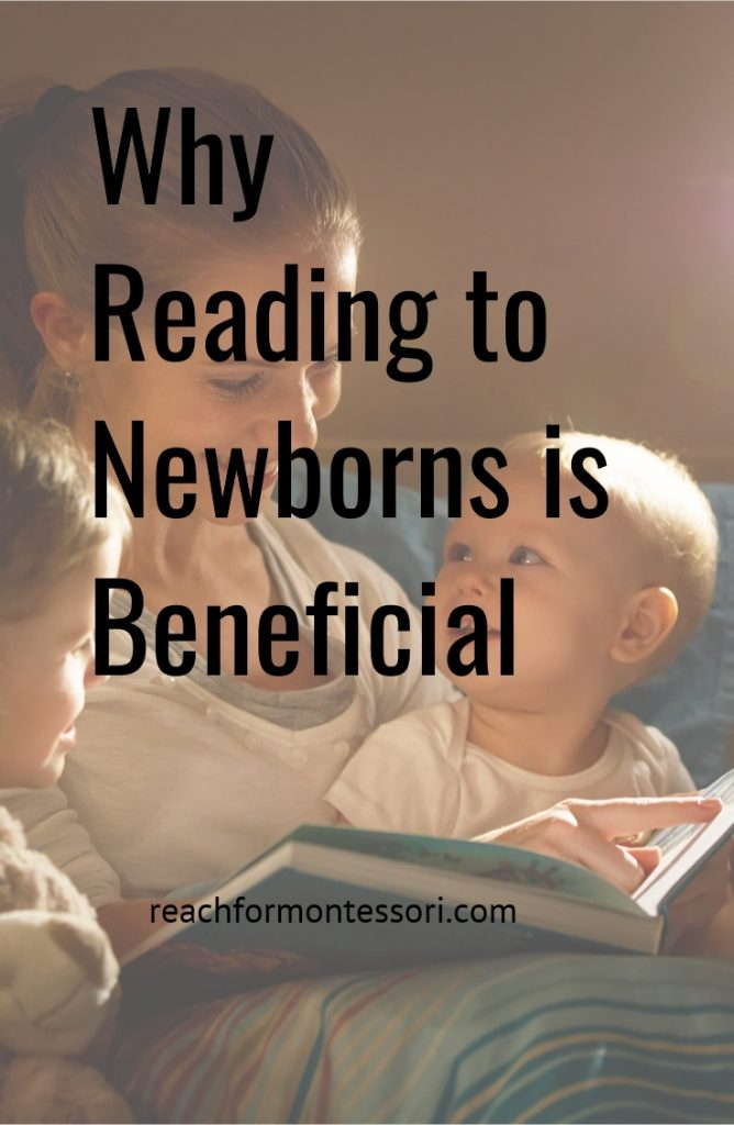 Why Reading to Newborns is Beneficial Pinterest Graphic