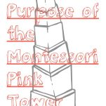 Purpose of the Montessori Pink Tower Pinterest graphic.