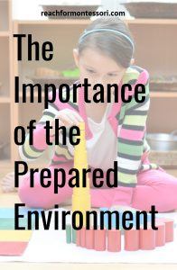 the importance of the prepared environment pinterest graphic