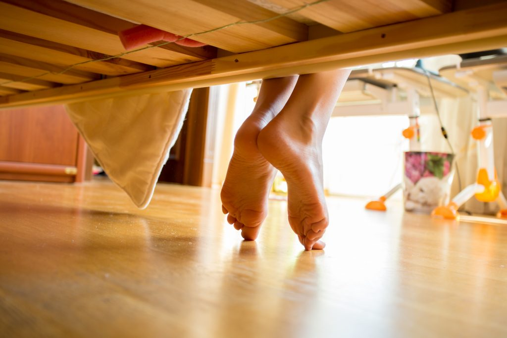 a low or floor bed is part of a Montessori homeschool environment