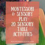 Montessori and sensory play pinterest image.