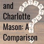 Montessori and Charlotte Mason Comparison pinterest image.