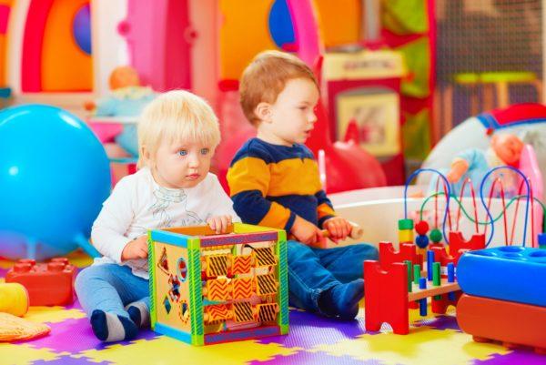 Children in daycare setting