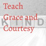 How to teach grace and courtesy Pinterest image.