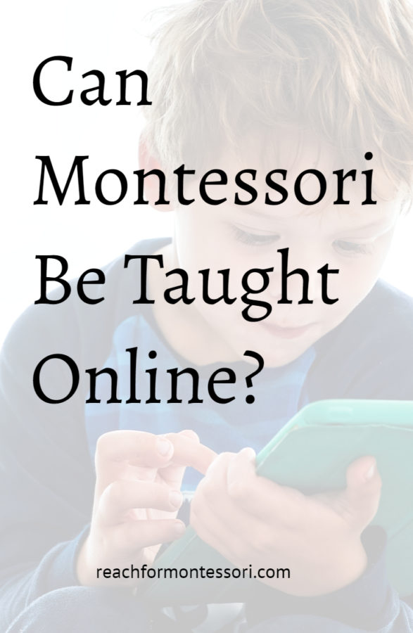 can montessori be taught online pinterest image