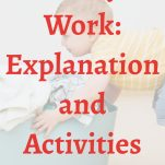 """""""Heavy Work: Explanation and Activities"""" pinterest image."""